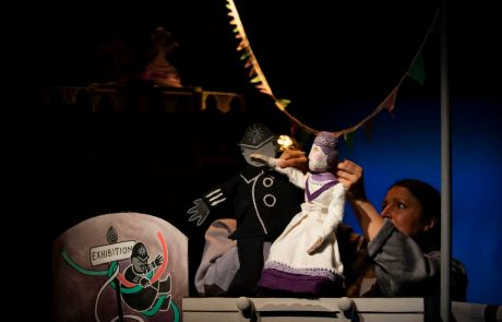 Puppets being used at The Boo for page exploring culture in Rossendale for visit Rossendale Website