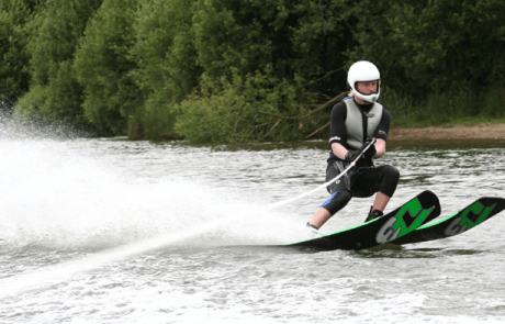 Image of person water skiing for Whitworth Water Ski Academy page on the Visit Rossendale Website