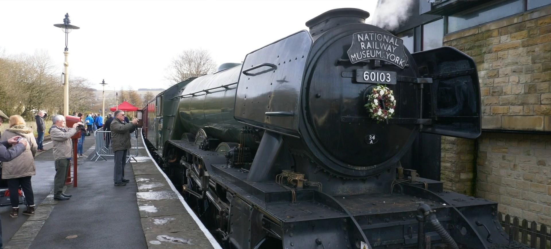Close up of train on East Lancashire Railway