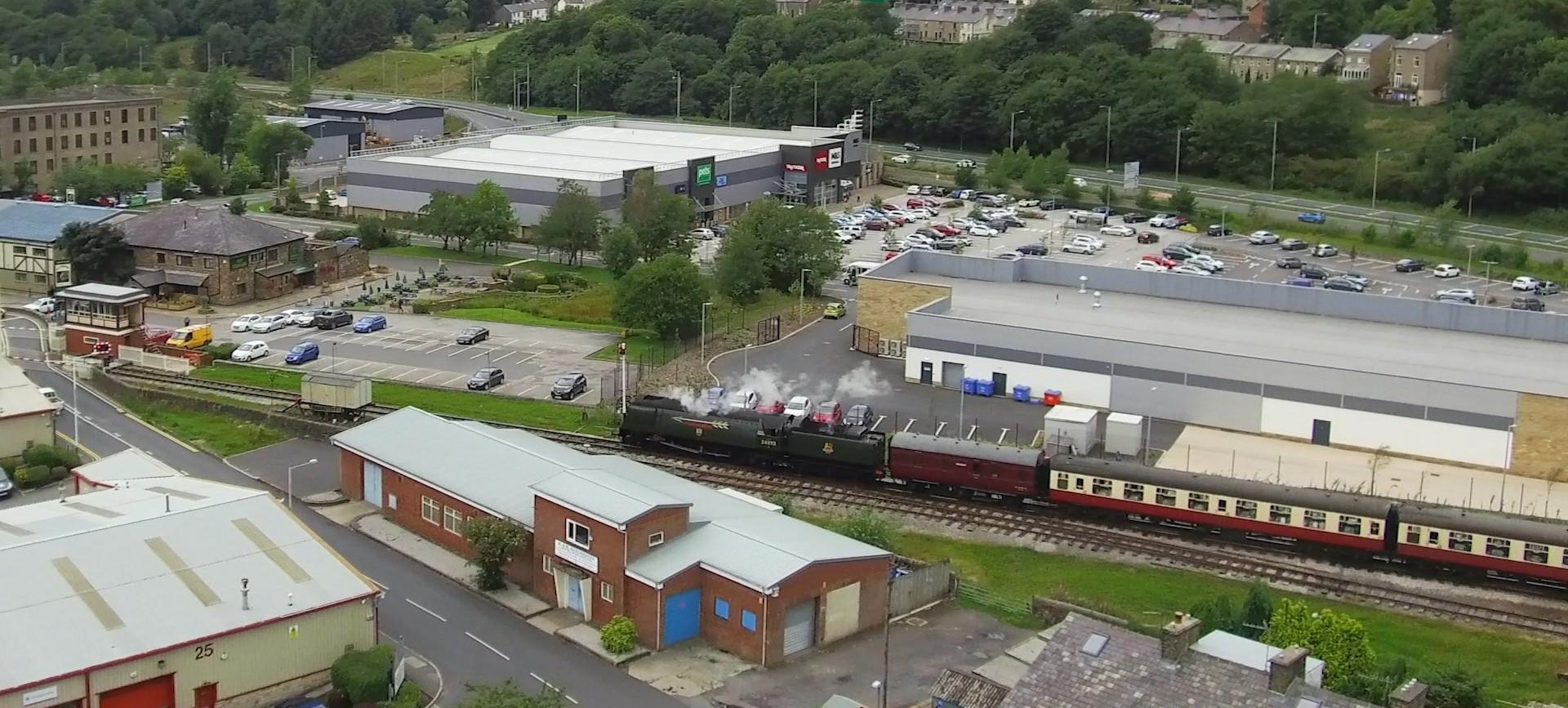 Aerial view of East Lancashire Railways